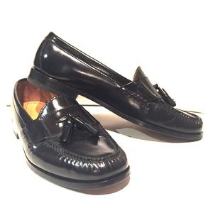 Cole Haan Penny Loafers - Black Tassel Slip On